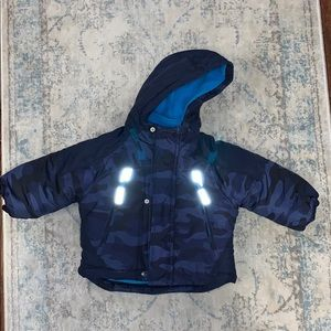 Carters puffer coat navy blue and camo